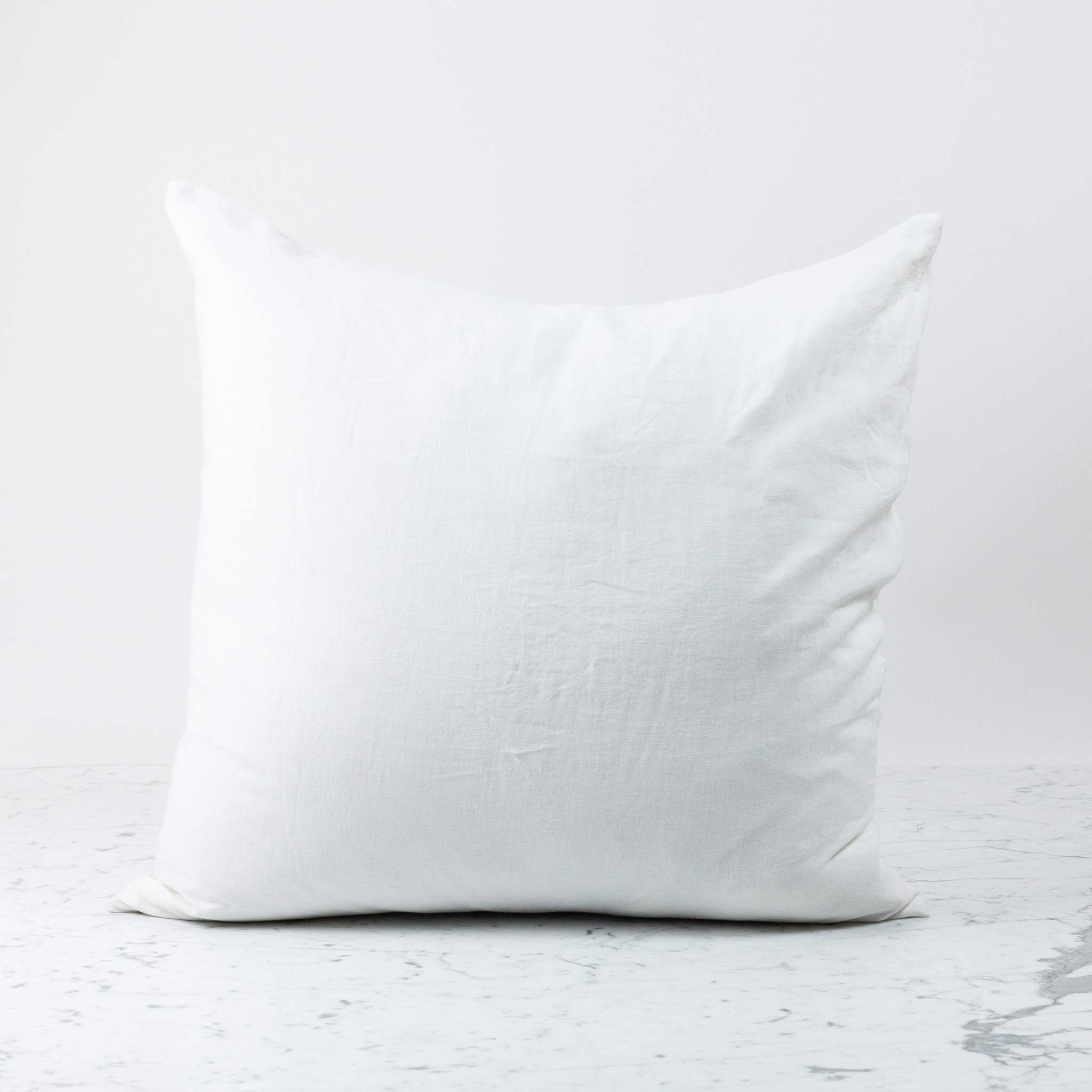"White - 26"" - Linen Dec Pillow COVER ONLY"