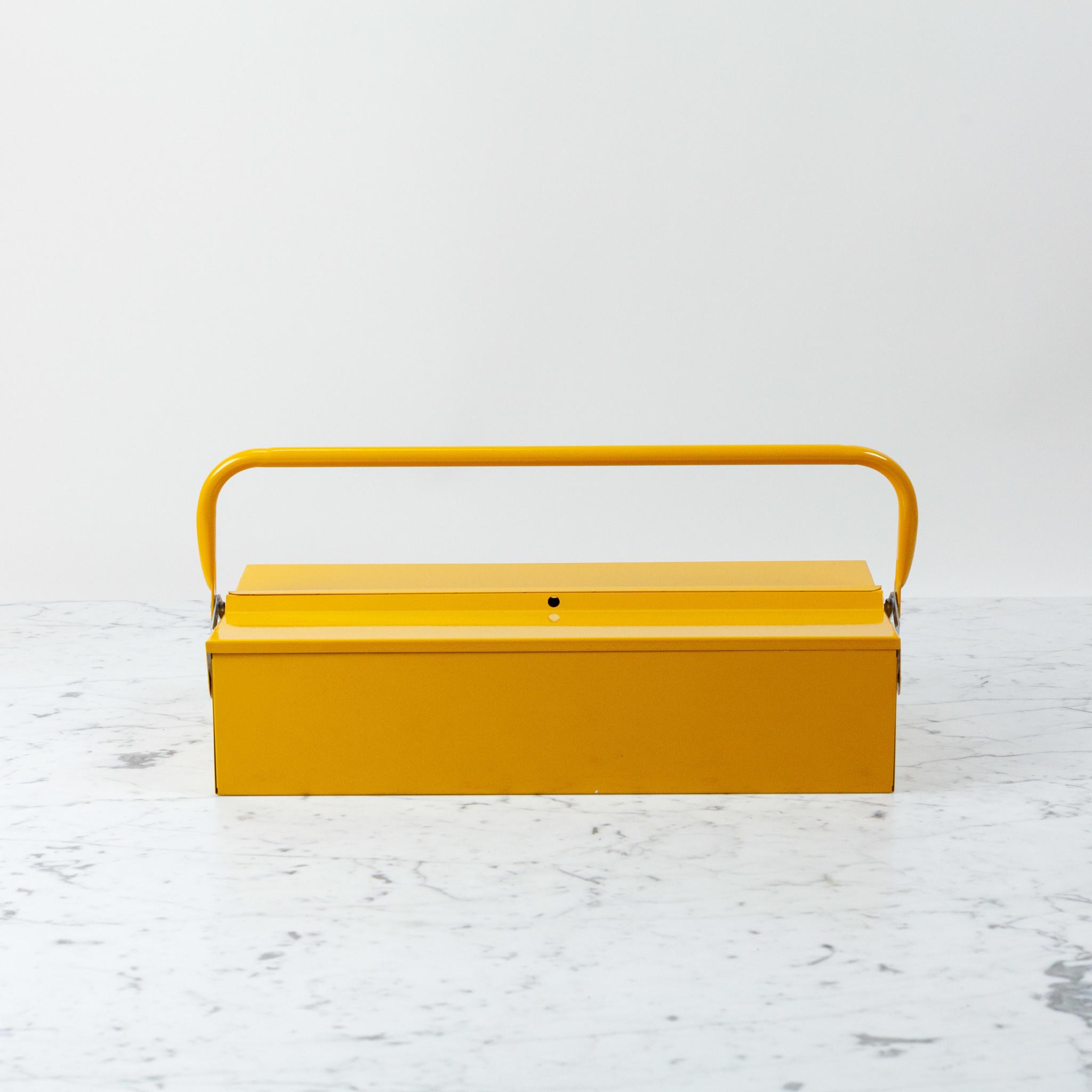 Italian Single Layer Steel Tool Box - Yellow