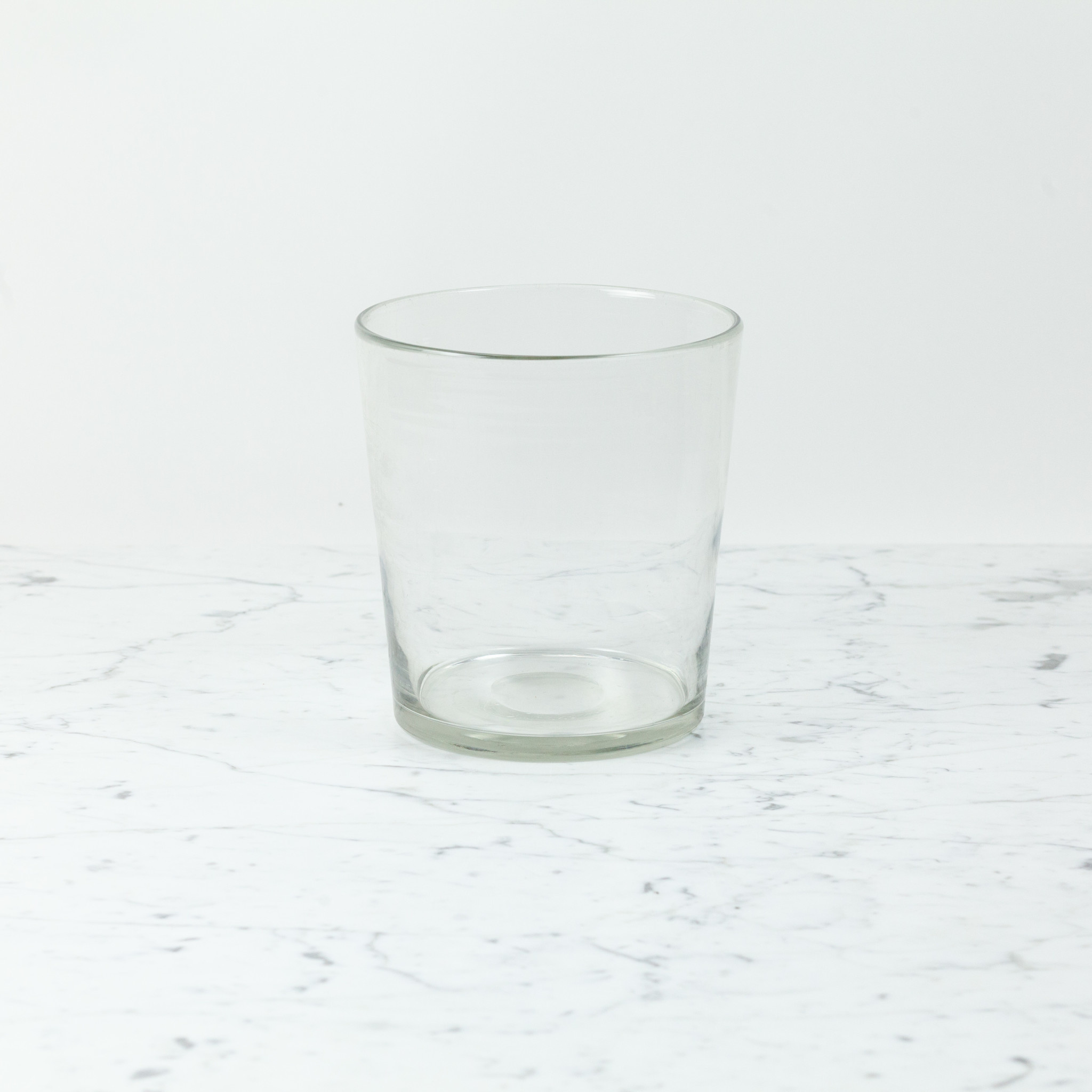"""Henry Dean Belgian Handblown Tapered Spry Vase - Clear Glass - 7.5"""""""