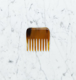 Danish Carved Horn Square Comb