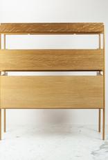 Skagerak Vivlio Stacking Shelf - Full Assembly - Oiled Oak and Cinnamon Brown Steel Frame