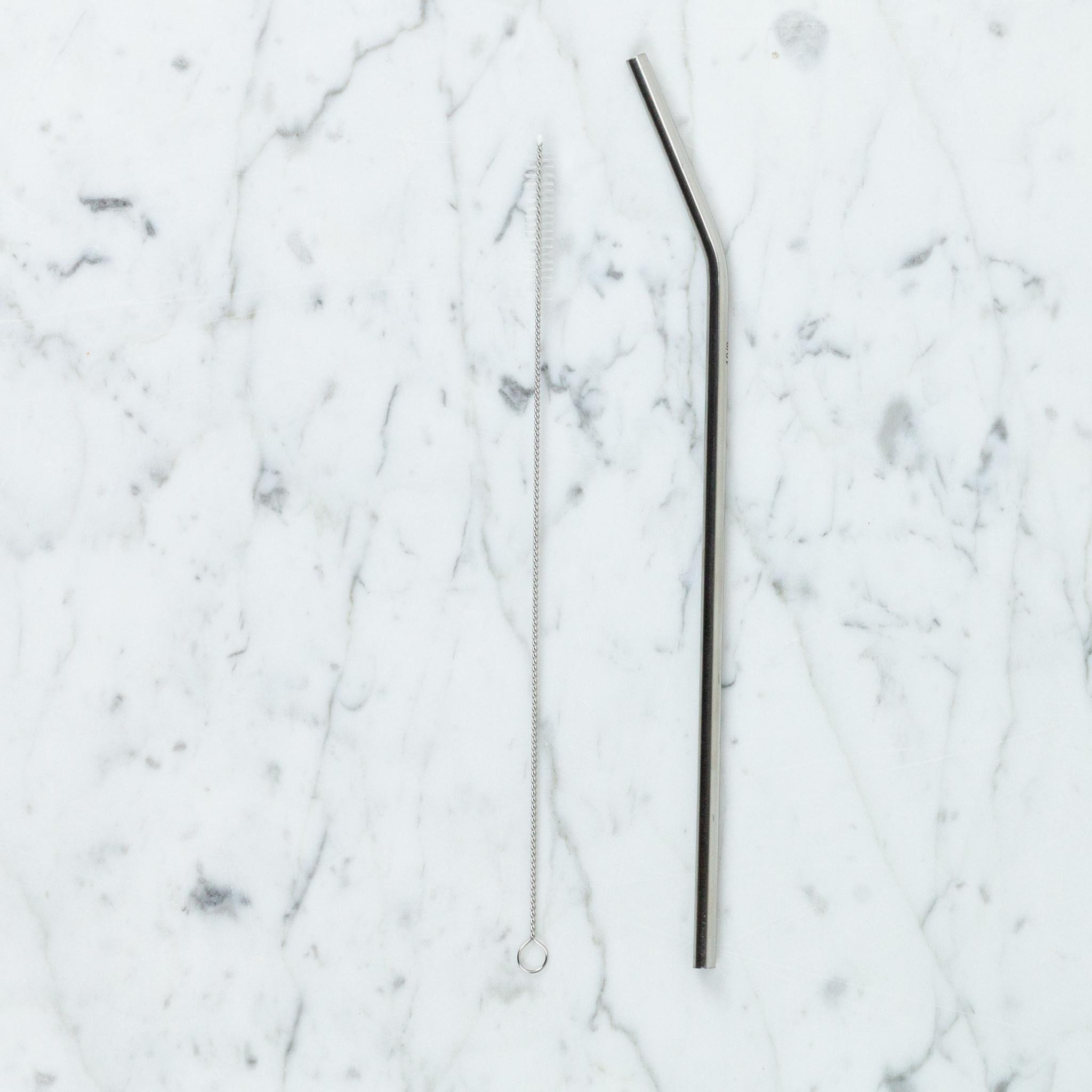 Slim Long Reusable Straw Brush