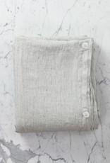 Complete Linen BEDDING Set - Queen - Pinstripe - Flat, Fitted, 4 Pillowcases, Duvet Cover