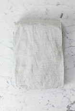 Complete Linen BEDDING Set  - King - Pinstripe - Flat, Fitted, 4 Pillowcases, Duvet Cover