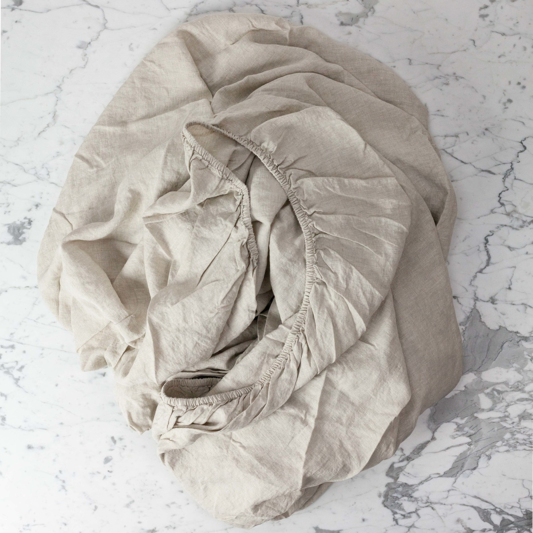 Complete Linen SHEET Set - King - Natural - Flat, Fitted, 2 Pillowcases
