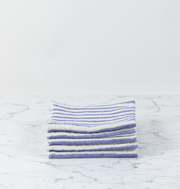 Linen Border Striped Washcloth - Navy