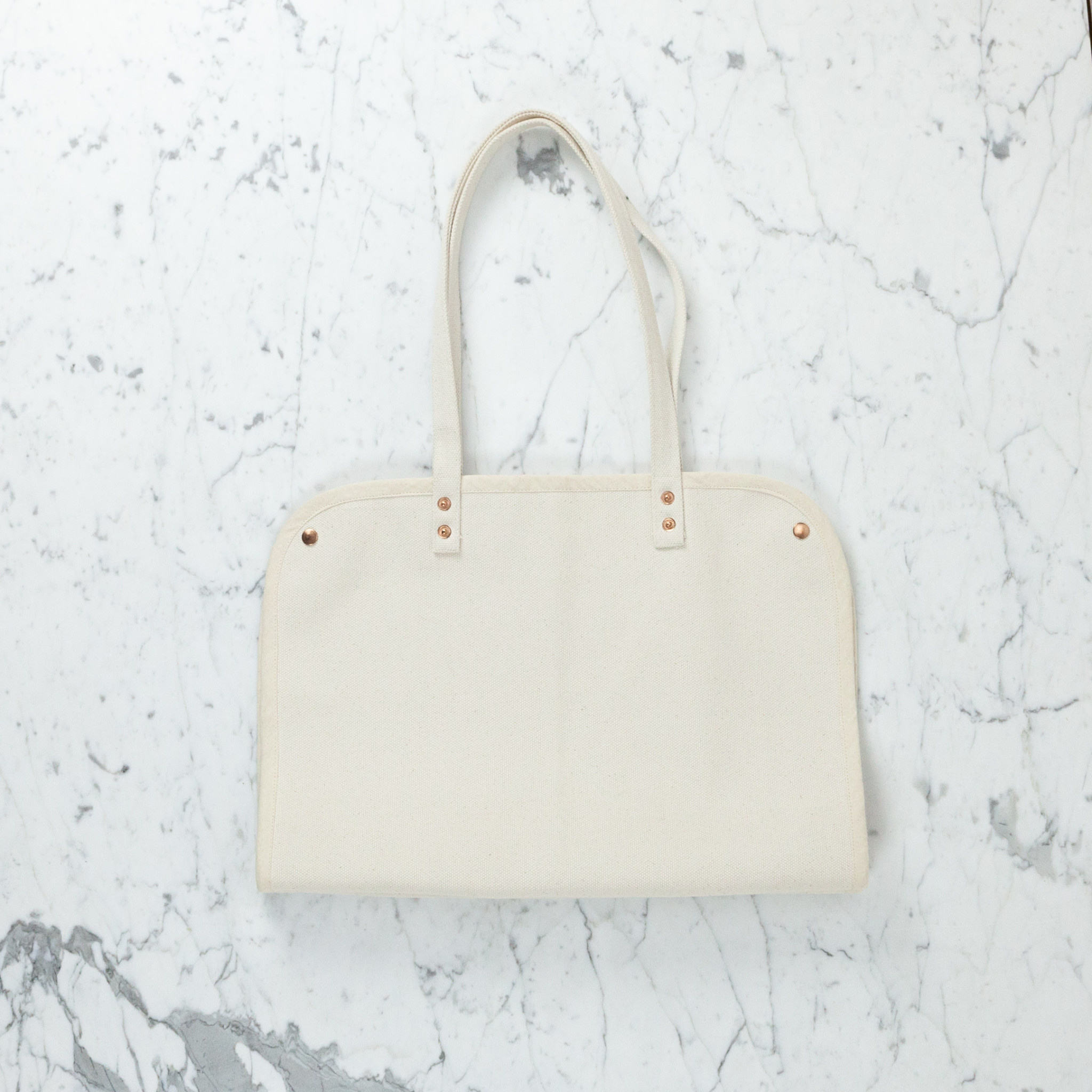 Canvas Market Tote with Snaps - 18""