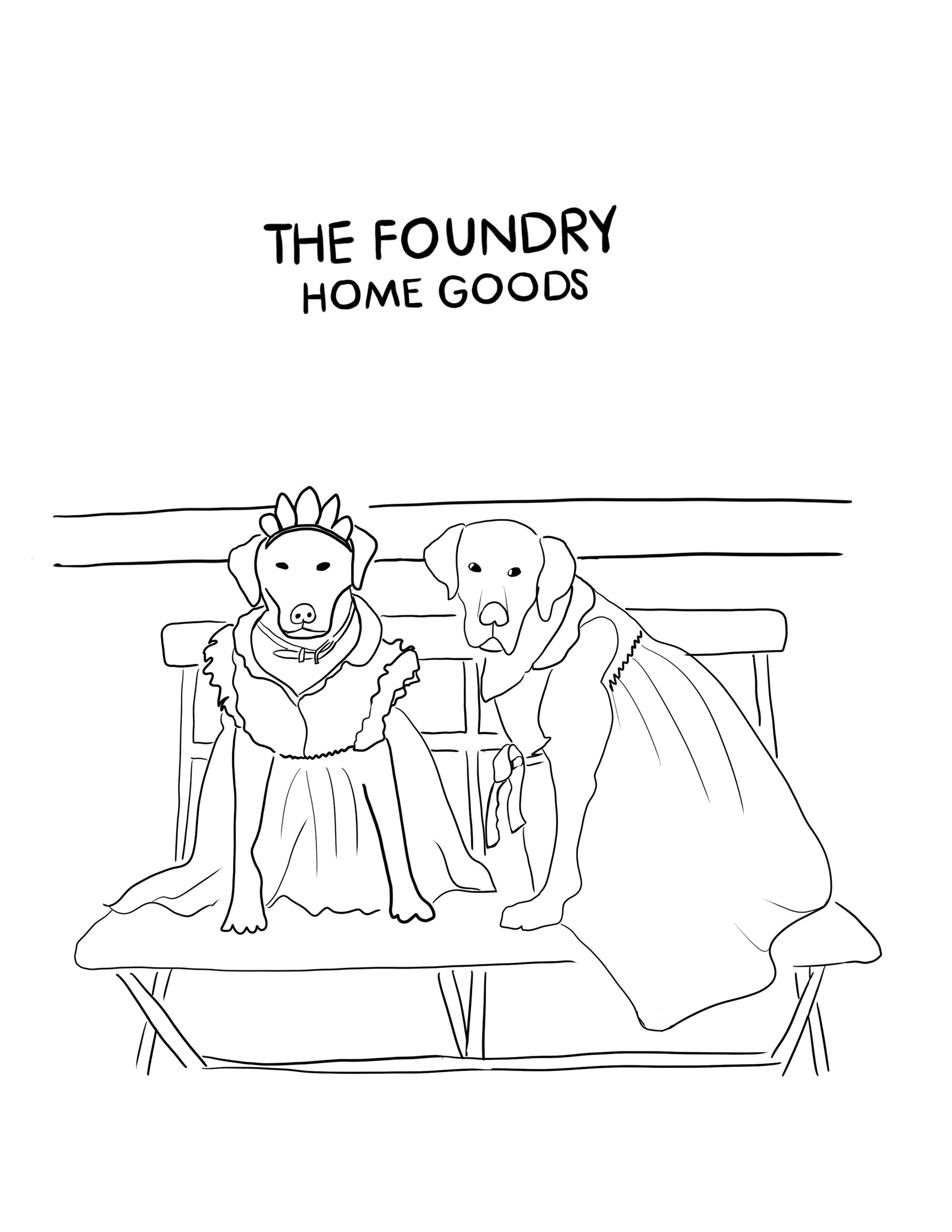 The Foundry At Home: Printable Foundry-Made SHOPDOG Coloring Pages!