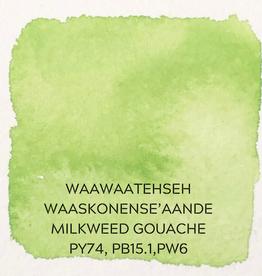 Beam Paints Natural Pigment Handmade Watercolor Paintstones - #12 Mememgwanh Waaskoneh'aande Milkweed Green Gouache - Individually Wrapped