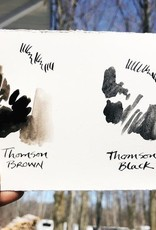 Beam Paints Natural Pigment Handmade Watercolor Paint - Thompson Black - Glass Jar