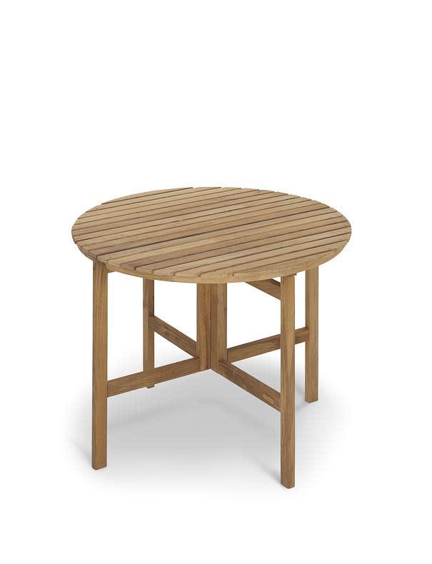 Skagerak Selandia Outdoor Table - Teak - Round Folding Top