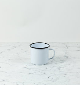 Black + White Enamel Large Mug - 16 oz
