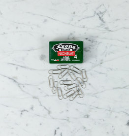 Nickel Plated Paperclip, Box Of 100 - Size 4