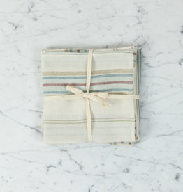 "Libeco Home Belgian Linen Napkin - Savanna Stripe - 15"" - Set of 4"