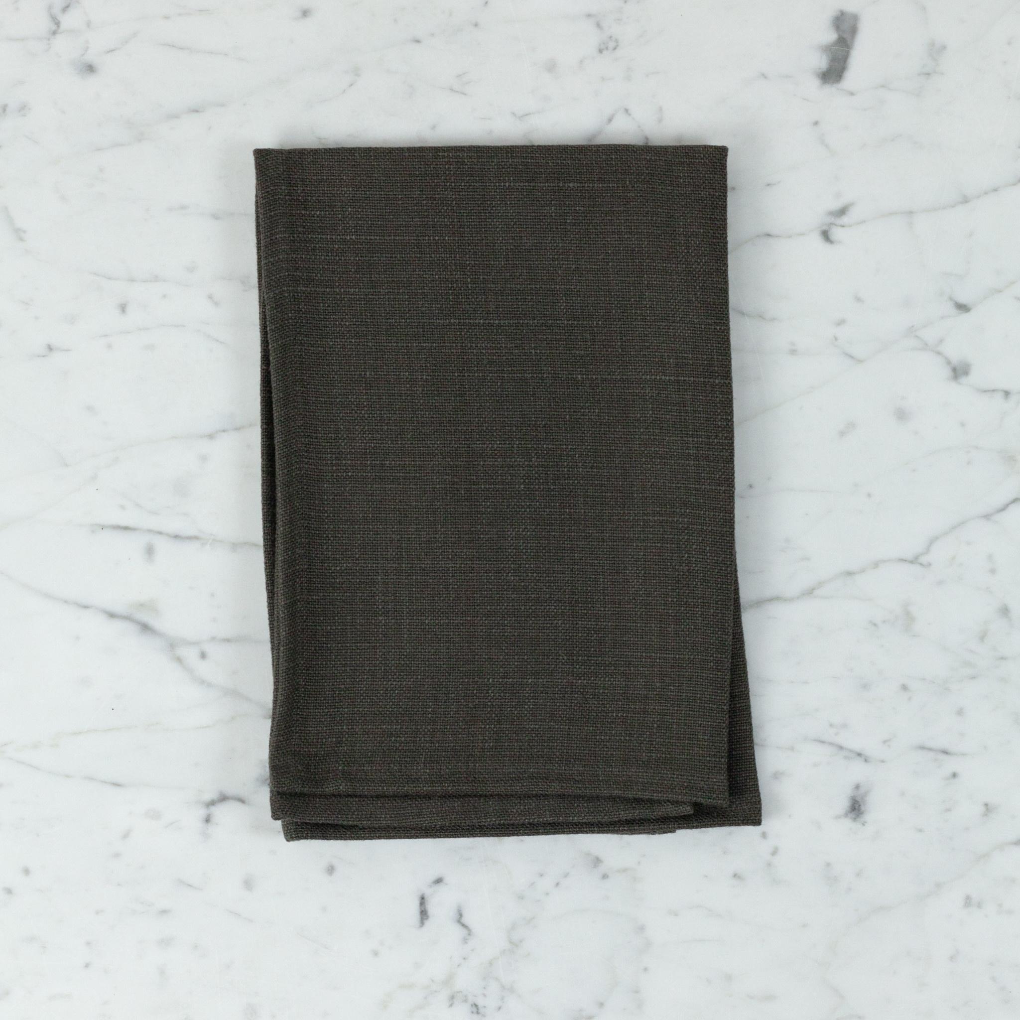 "Libeco Home Belgian Linen Napkin - Napoli Vintage - Cafenoir - 22"" - Set of 4"