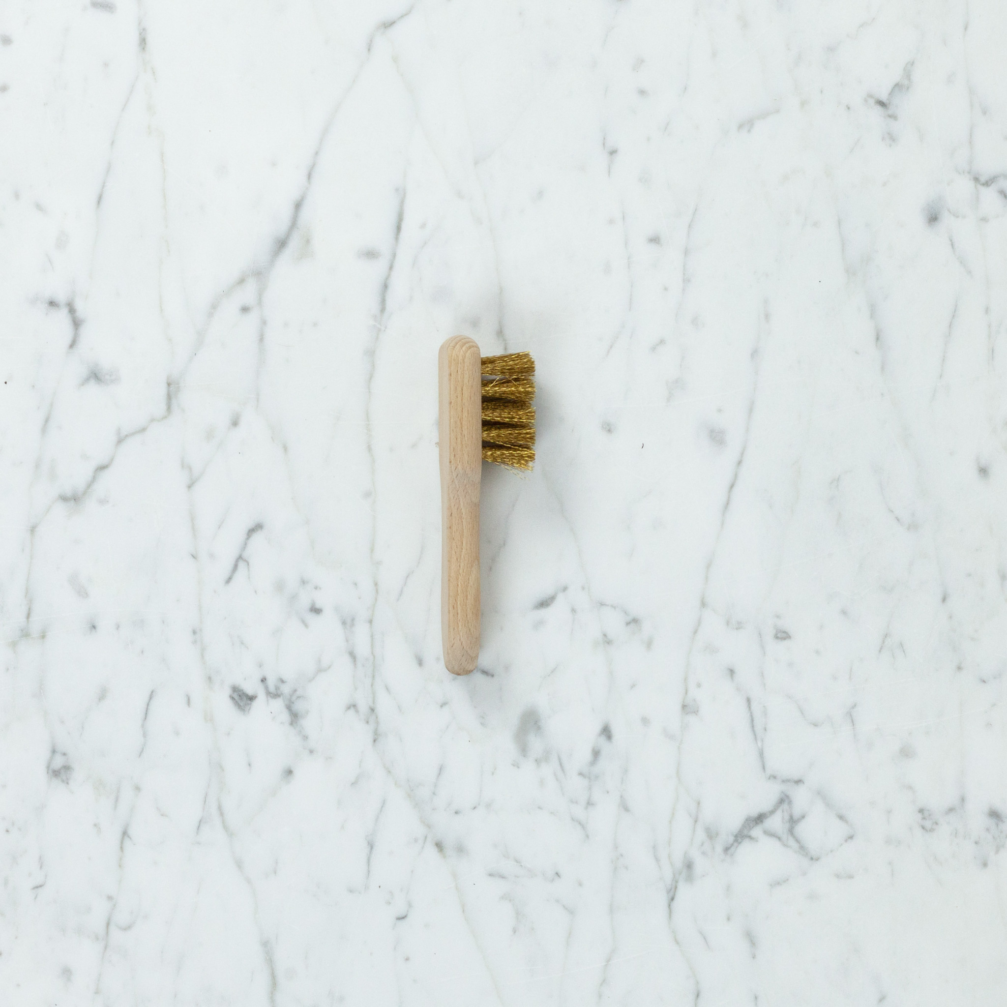 German Beechwood Suede Nap Brush with Brass Bristles - 4.75""