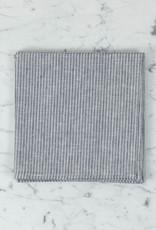 "Linen Napkin - Grey + White Stripe - 18"""