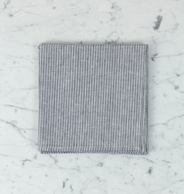 Linen Napkin - Grey + White Stripe - 18""