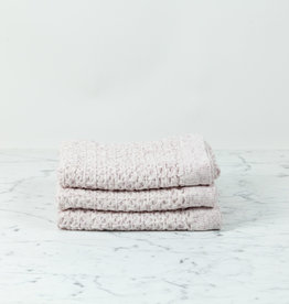 Recycled Cotton Blend Lattice Hand Towel - Pink