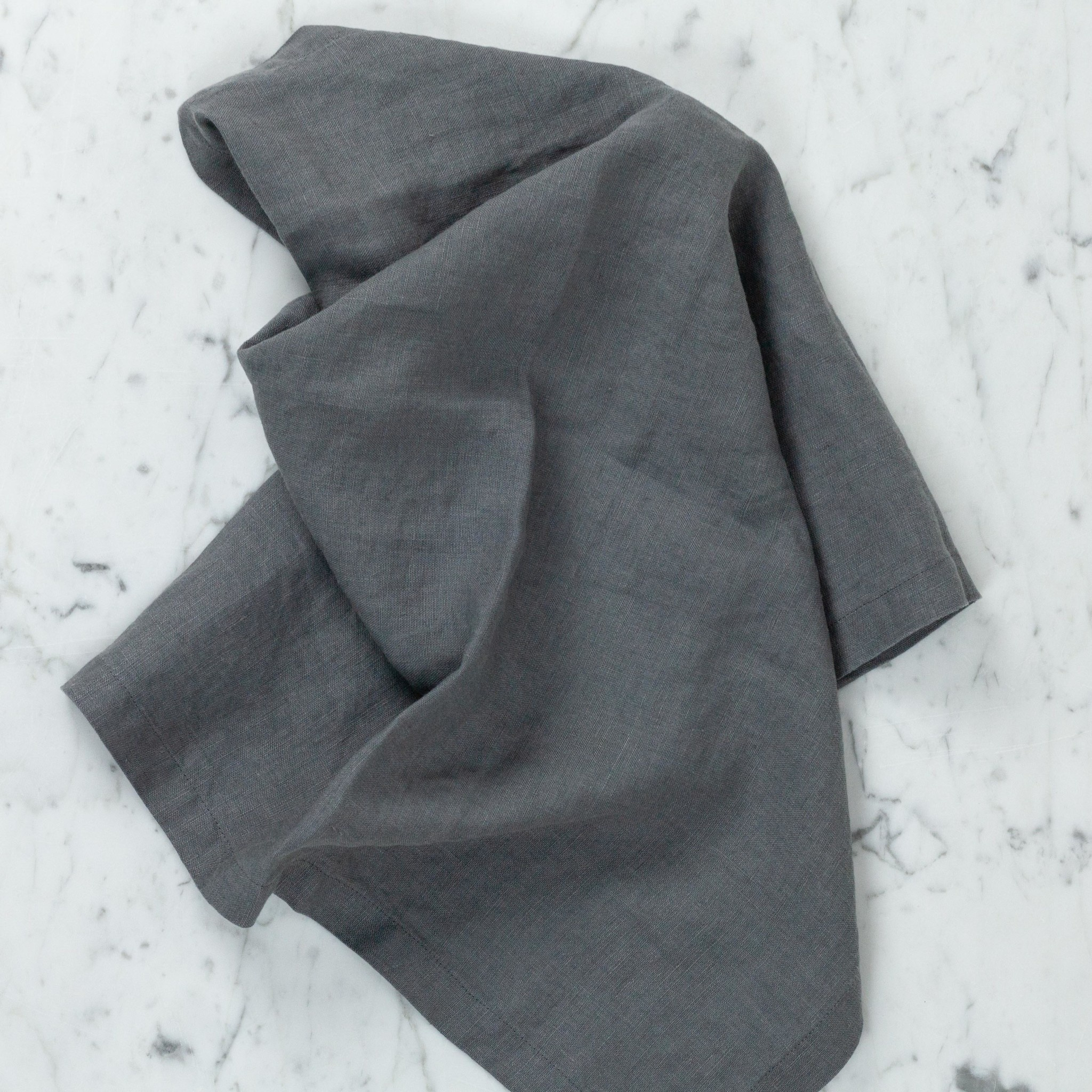 Linen Napkins - Set of 4 - Charcoal Grey