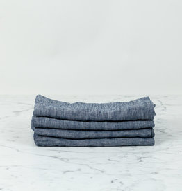 Linen Napkins - Set of 4 - Indigo Chambray