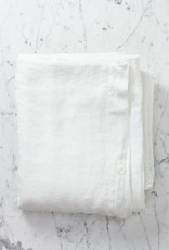Linen Duvet Cover - King - White - 108 x 96""