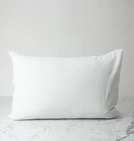 King - White - Linen Pillowcase with Envelope Closure