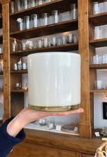 """Henry Dean Handblown Cylinder Vessel - Snow Solid White - 6"""""""