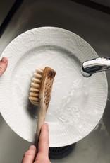 Iris Hantverk Swedish Long Handle Dish Brush - Stiff Tampico Bristles