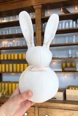 "Polka Dot Club Handmade Stuffed Small Rabbit - Natural Cotton - 10"""