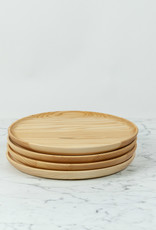Ash Wooden Plate - Scoop Style - 10""