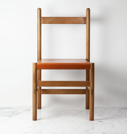 Sun at Six FLOOR SAMPLE - Juniper Chair - White Oak and Leather - Sienna