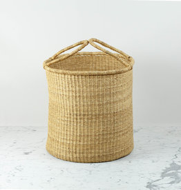 """Grass Hamper Basket with Double Handles  - Large - 17"""""""