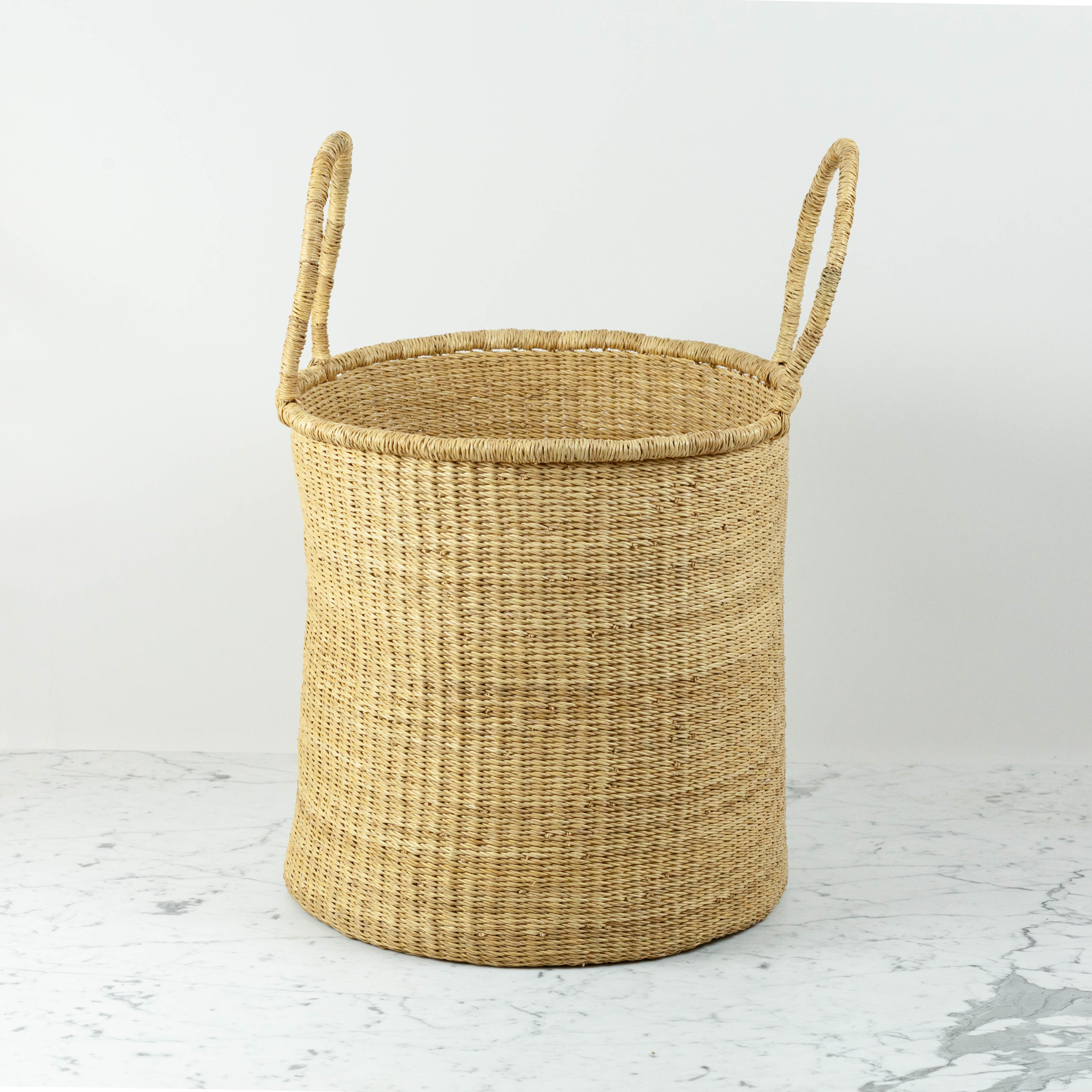 Grass Hamper Basket with Double Handles  - Large - 17""