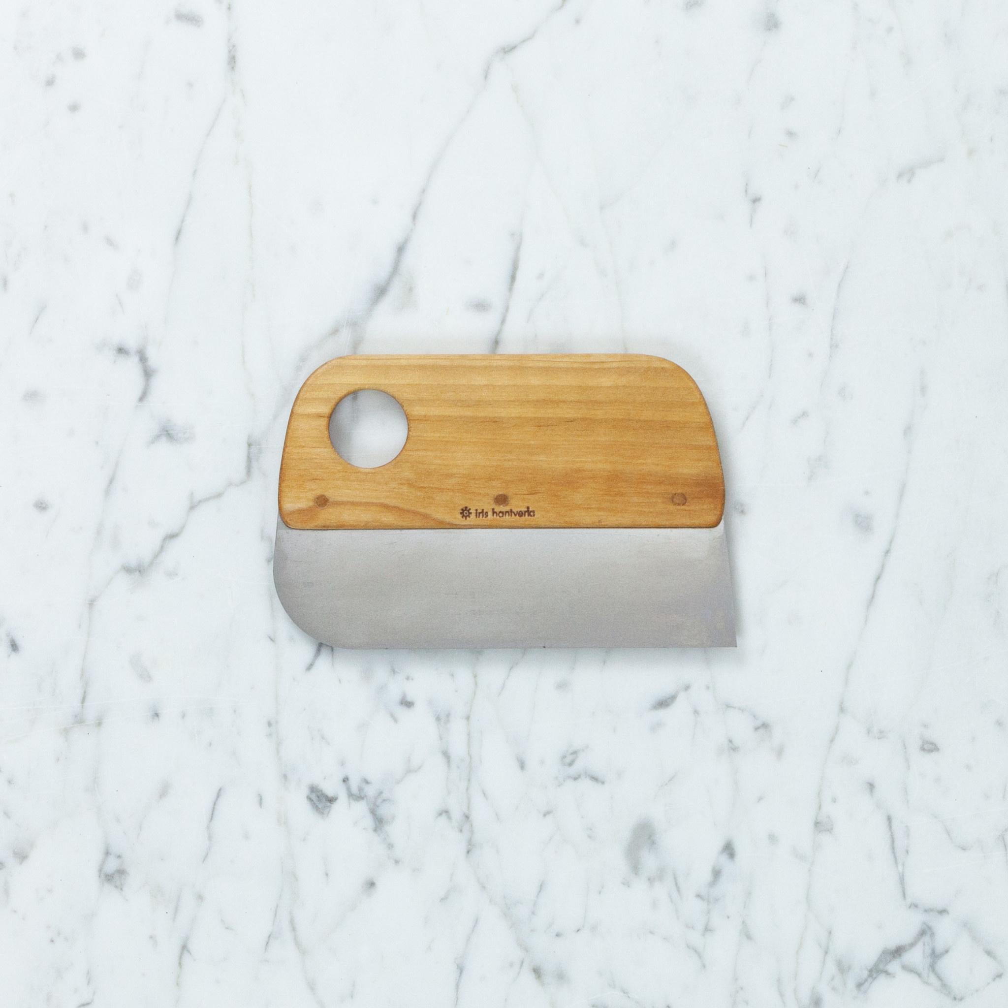 Iris Hantverk Swedish Birch + Stainless Steel Dough Scraper