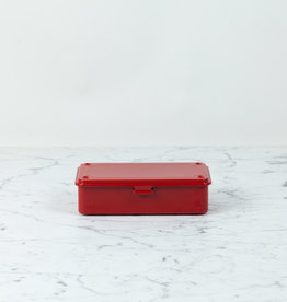 Japanese Steel Tool Box - Red - 8""