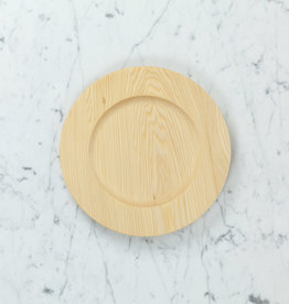 Ash Wooden Plate - Wide Rim Style - 10""