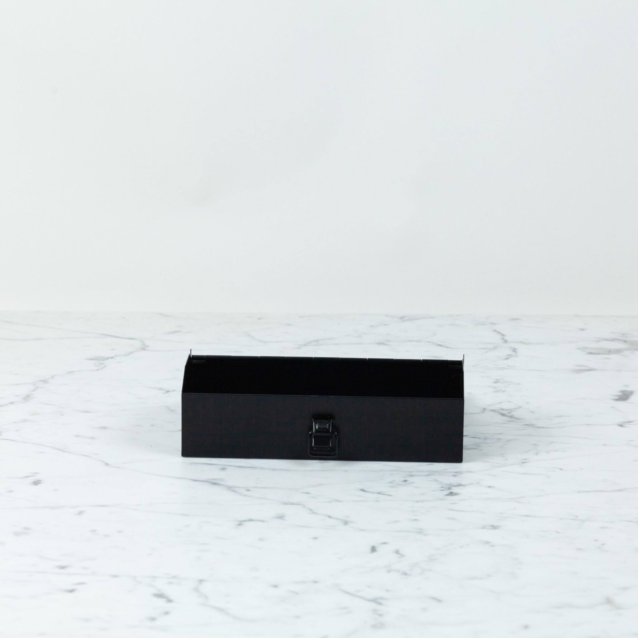 """Japanese Steel Tool Box - Black - 8"""""""