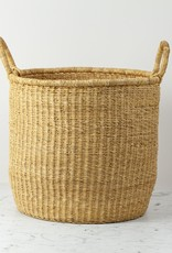 Grass Hamper Basket with Double Handles - Small - 16""