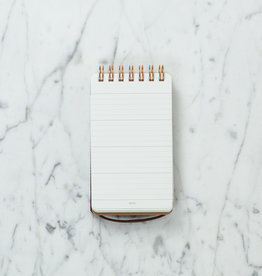 Recycled Grain Leather Notebook - Dark Brown - Pocket Size