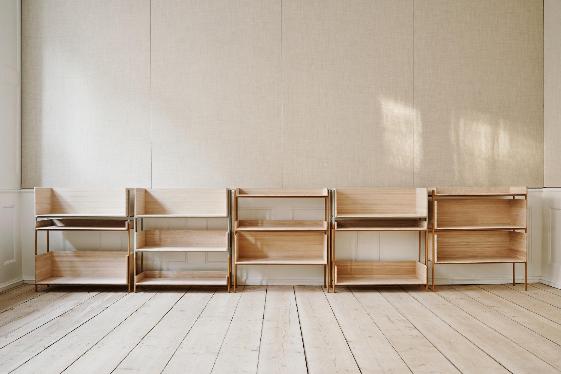 Skagerak Vivlio Stacking Shelf Frame - Cinnamon Brown Steel