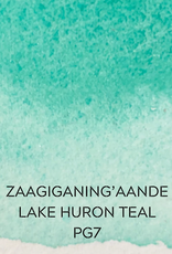 Beam Paints Natural Pigment Handmade Watercolor Paintstones - Lake Huron Teal - Individually Wrapped