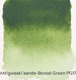 Beam Paints Natural Pigment Handmade Watercolor Paintstones - Mtigwaaki'aande Boreal Green - Individually Wrapped