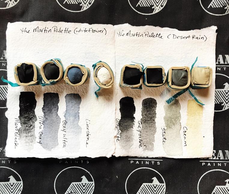 Beam Paints Natural Pigment Handmade Watercolor Paint - Agnes Martin Palette - 8 Colors