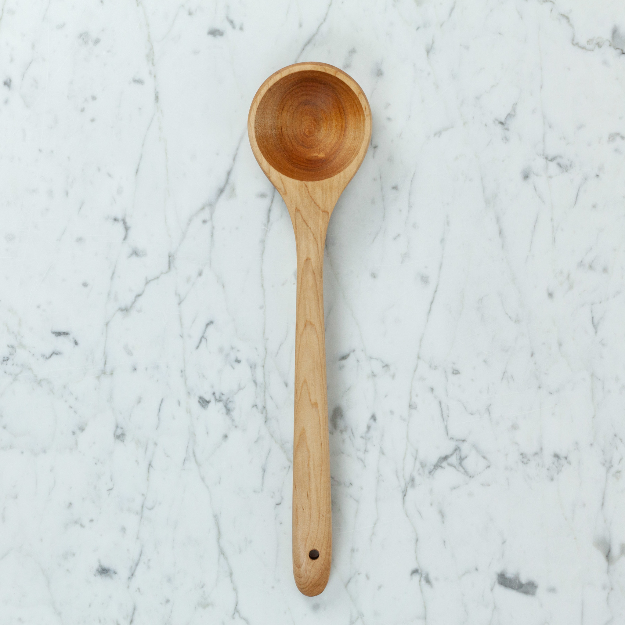 Carved Maple Serving Spoon - 16""