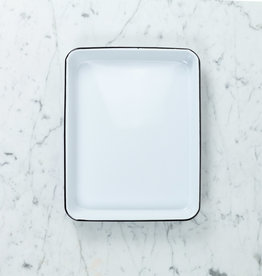 Black + White Enamel Baking or Serving Tray - 11 x 9""