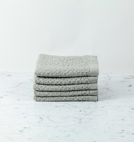 Lattice Waffle Hand Towel - Cotton + Linen - Ice Grey