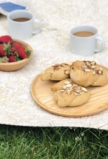 """Ash Wooden Plate - Scoop Style - 10"""""""