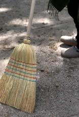 German Rice Straw Broom - 5 ft