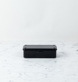 "Toyo Little Rectangular Japanese Steel Tool Box - Black - 8"""